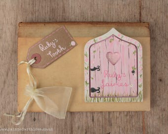 Fairy Door + Tooth Fairy Door Set - Choose your colour and wording