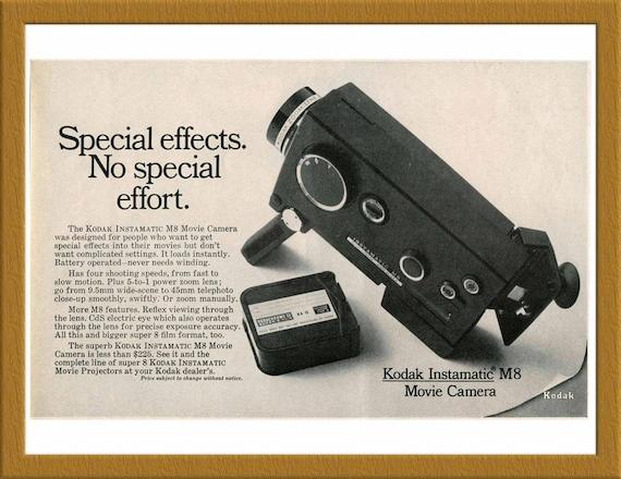 1967 kodak instamatic m8 movie camera b w print ad special etsy rh etsy com Taking Apart Kodak Instamatic 100 Taking Apart Kodak Instamatic 100