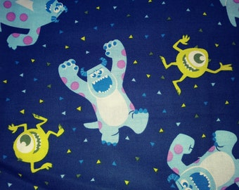 Cute  Monsters  Print Fabric Boys  Necktie Ages 4-6