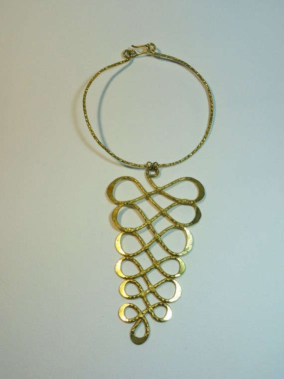 SJC10285 - Vintage infinity loop gold plated choker