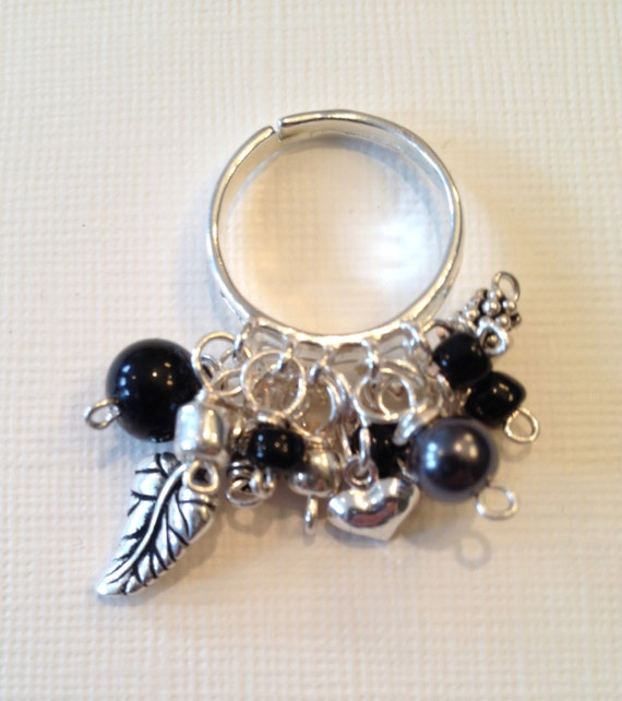 SJC10003 - Black and silver ring