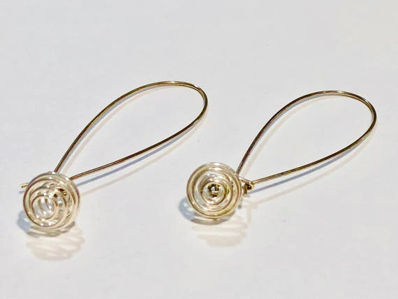 SJC10253 - Silver plated round spiraled wire earrings