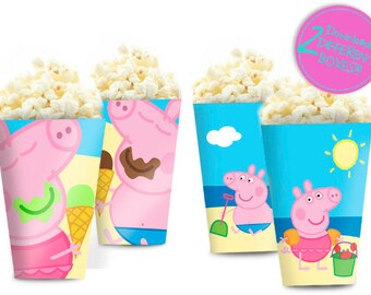 Peppa Pig Favor Box Cartone Del Latte Etsy