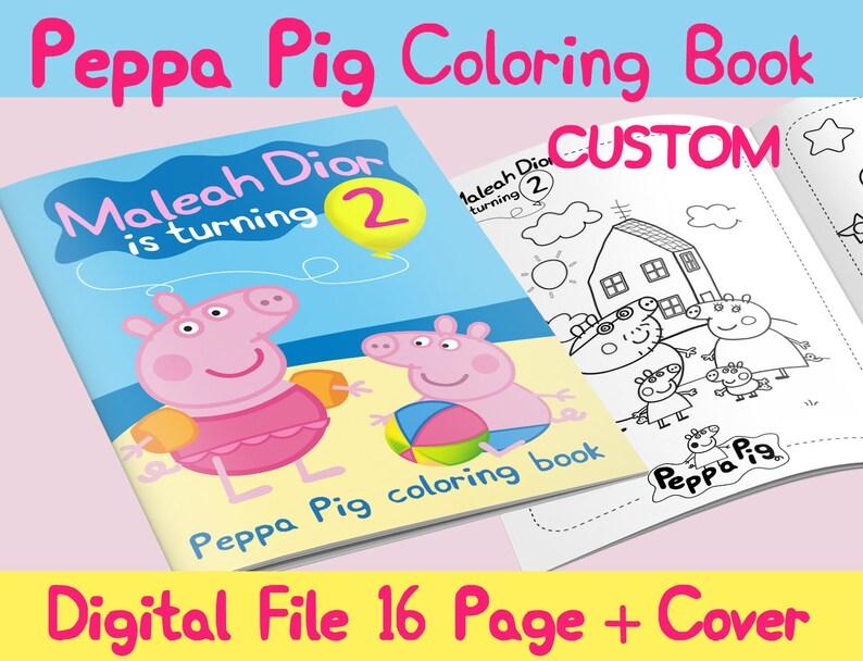 Peppa Pig Custom Coloring Book Etsy