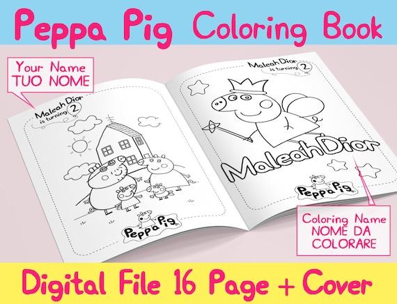 Peppa Pig Custom Coloring Book Libro Da Colorare Etsy