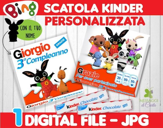 Scatola Porta Kinder Bing Digitale Etsy