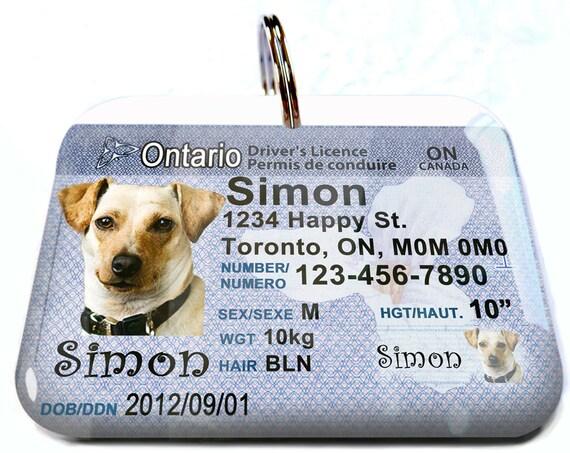 Permis De Conduire Au Canada Ontario Personnalise Personnalise Etsy