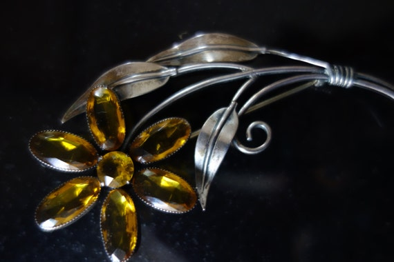 Coro Craft Art Deco LARGE Sterling Silver Bow Brooch FREE Shipping USA Stunning Brooch Designer Signed CoroCraft Great Gift