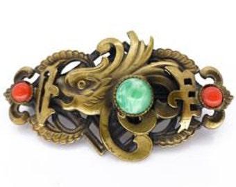 Max Neiger Dragon brooch 1920s