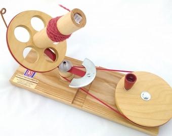 Strauch Jumbo ball winder, Large ball winder, Table top ball winder, Wooden Ball winder, Jumbo ball maker, Center pull ball winder