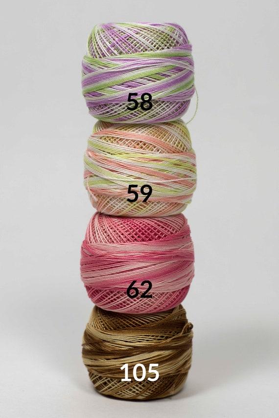 Yellow Red Purple or Pink Tatting Thread Size 80 DMC  White Ecru