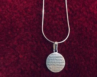 Solid Silver 925 Nalain sandal shoe Muslim Arabic Pendant Allah Ramadan Ali Muhammad Islamic jewelry Necklace Men Womens Kid Wife