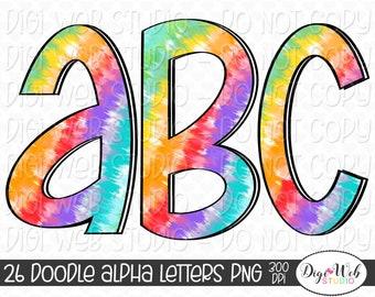 Doodle Alpha Letters PNG