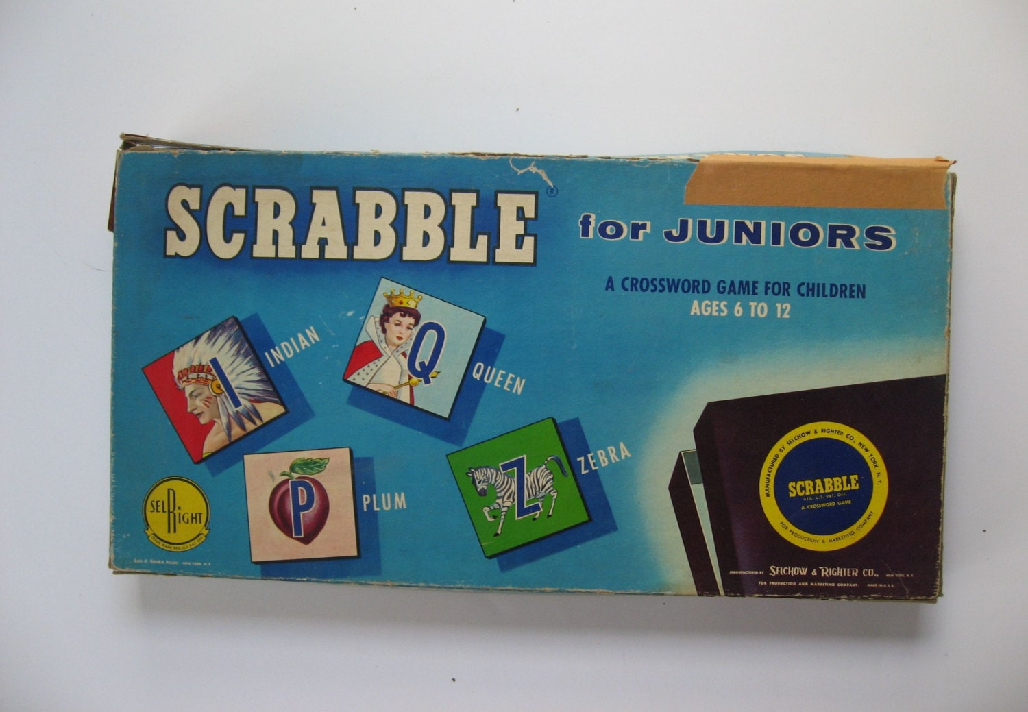 SALE was 15 1958 Scrabble for Juniors. Vintage board game by