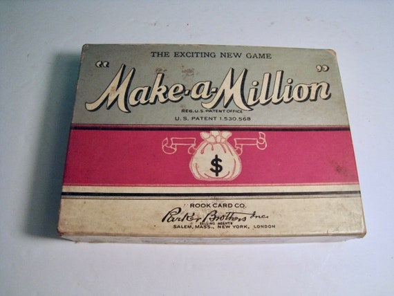 Make A Million Parker Brothers Card Game 1935 Complete With Etsy