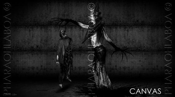 Art Print Metal Canvas Silent Hill Pyramid Head Monster Woman Etsy