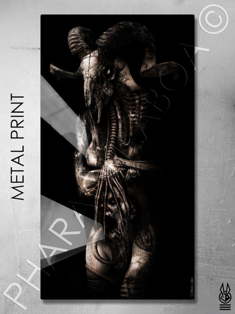Art Print H.R. Giger Inspired Biomechanical Disturbing Demon