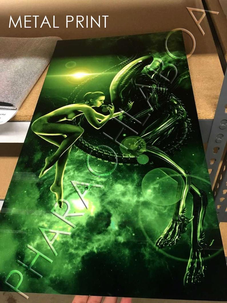 Art Print Metal Canvas Alien Isolation Amanda Ripley Sci