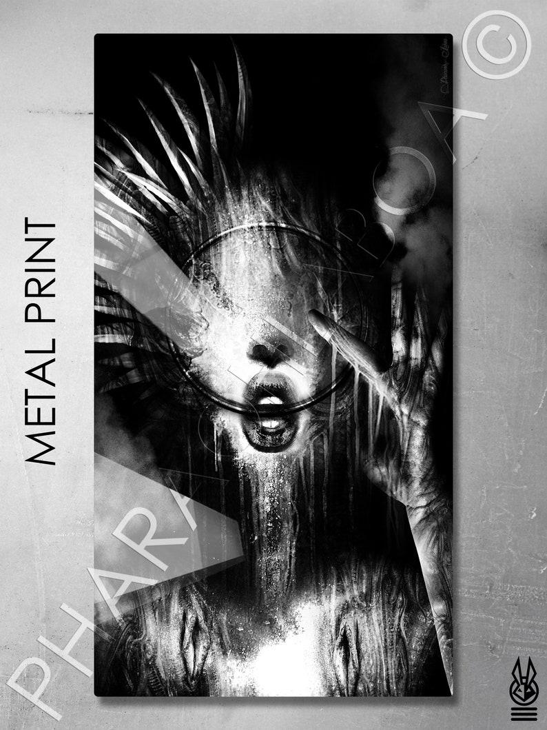 Art Print Metal Canvas H.R. Giger Inspired Biomechanical