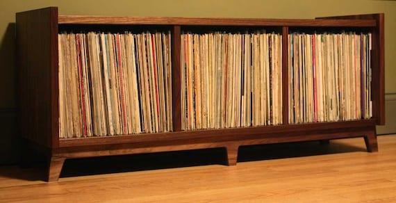 The Bukowski Mid-Century Modernized Vinyl LP Storage Bench