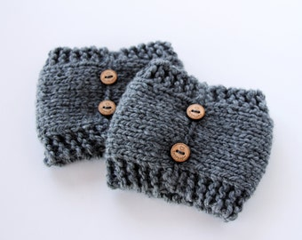 Knit Boot Cuffs, Womens Knitted Boot Cuffs, Ladies Boot Toppers, Button Boot Cuffs, Custom Boot Cuffs, Boot Warmers