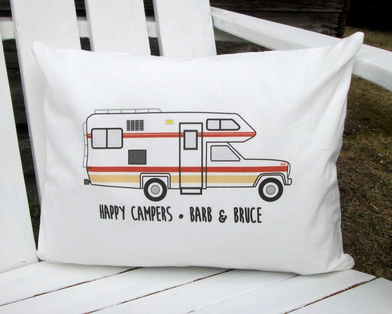 Personalized Travel Pillow, Motor Home Pillow, Camper Pillow, Personalized  Pillow, Vintage Motor Home, Vintage Class C Motorhome, Shasta