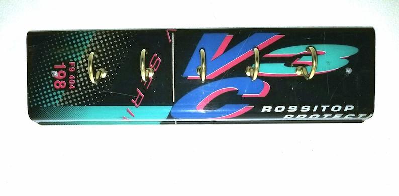 Recycled Ski Key Rack image 0