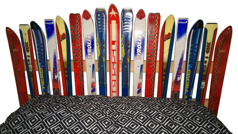 Recycled Ski Headboard  Made in the USA image 0