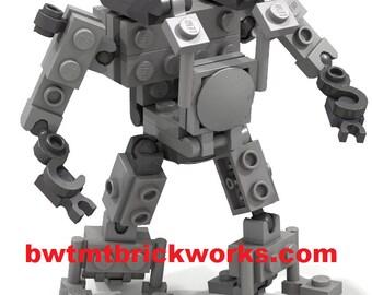 Lego Customizable Grey Exoframe / Robot / Figure by BWTMT Brickworks