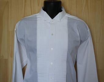 922f85e835 Vintage Bill Blass Tuxedo Shirt  c. 1990 s  Pleated Formal Shirt  Formal  Menswear  Wingtip  Bill Blass Eveningwear