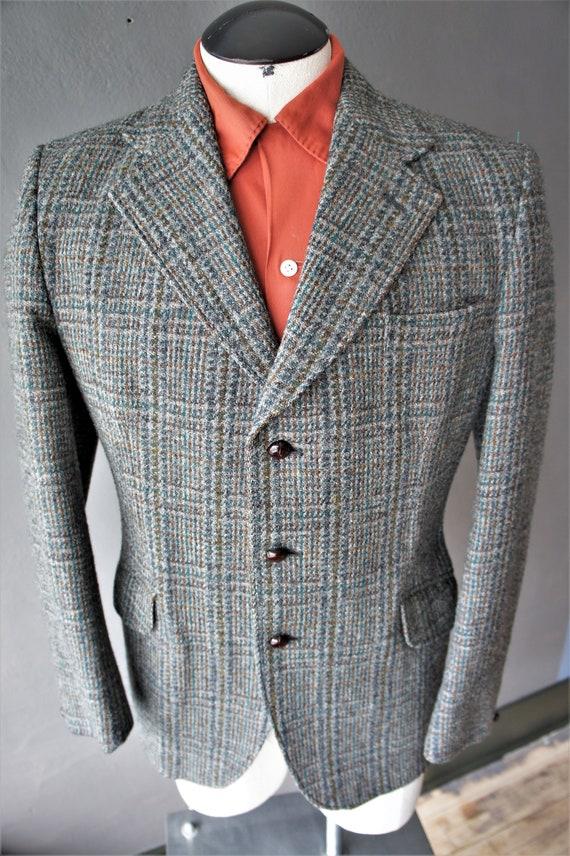 Harris Tweed Blazer/ Vintage Wool Tweed Sport Jack