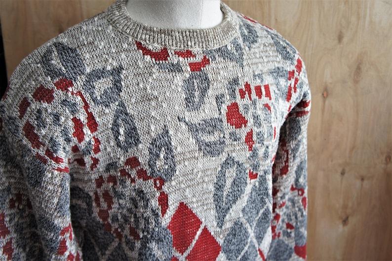 1970/'s Knitwear Crew Neck Sweater Size 40 US Vintage McGregor Pullover Ski Sweater c