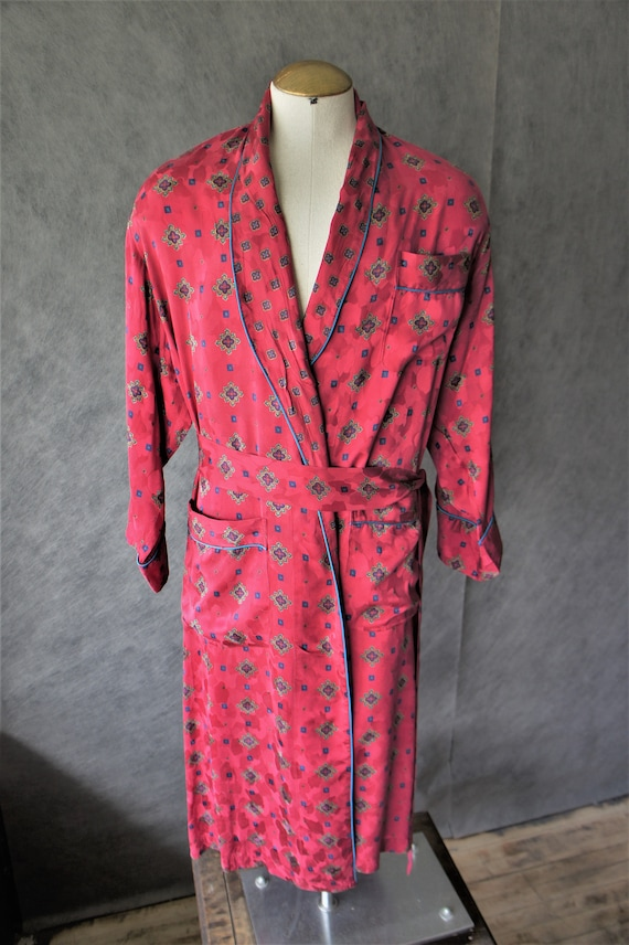 Number 1 London Silk Robe/ 1990s Sleepwear