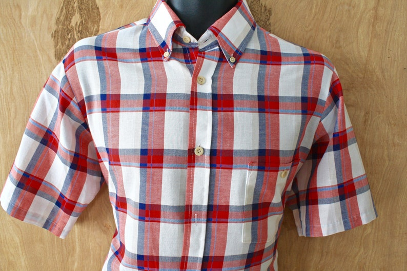 9c5be55d15e38 Madras Ivy League Button Down Oxford/ Short Sleeve/ Size L/Vintage  Collegiate