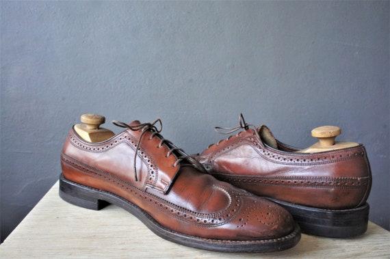 60s Florsheim Leather Wingtip Brogues/ Men's Oxfor