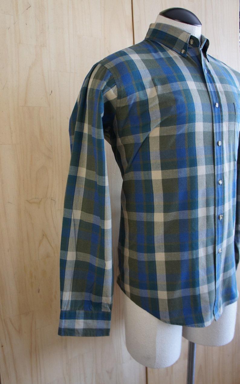 72cce4948406a Mens Vintage Madras Plaid Shirt/ McGregor Shirt/ Men's Oxford Shirt/ Ivy  Style Shirt