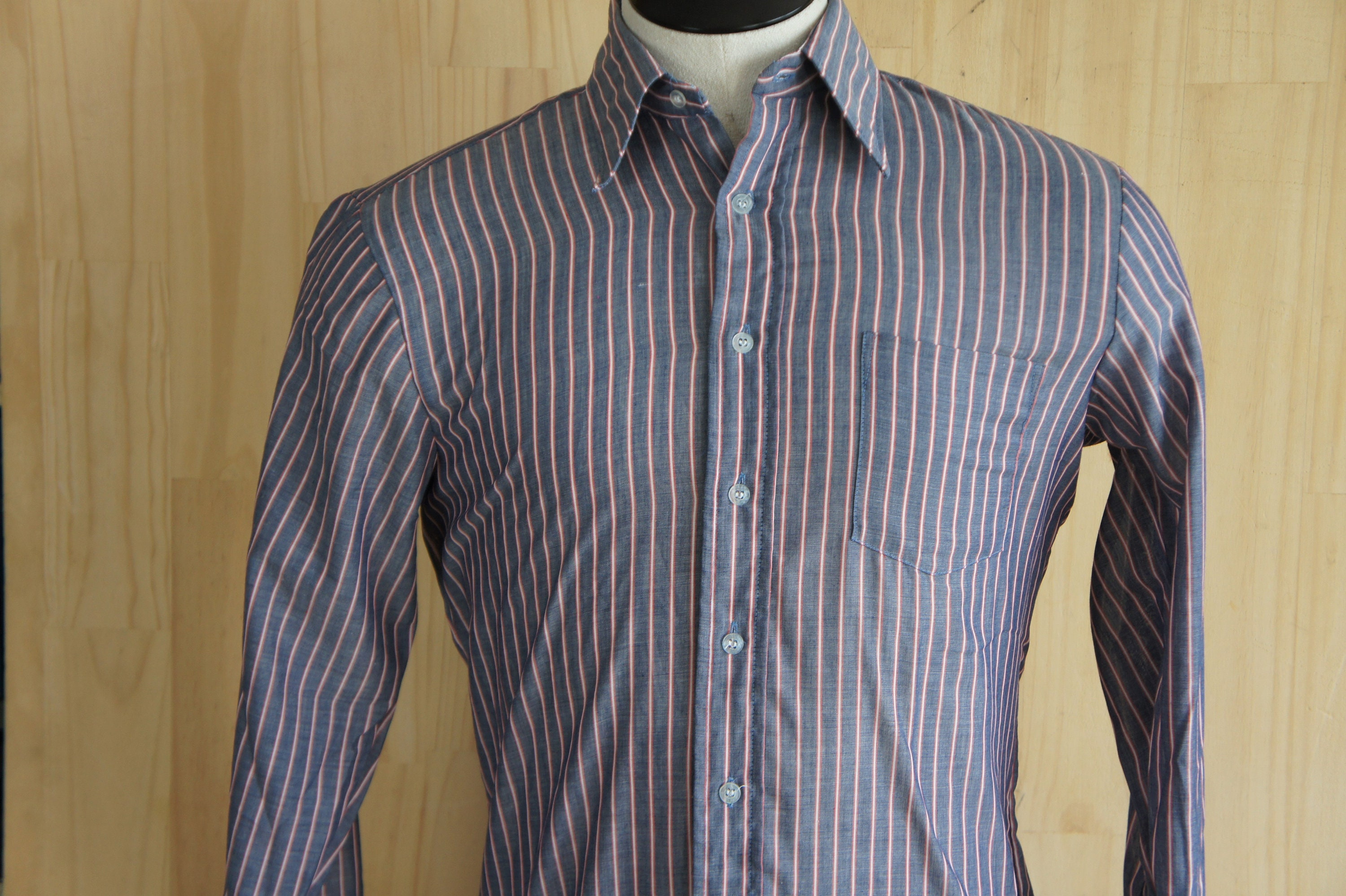 Vintage Ivy Style Dress Shirt Campus Ivy Traditional Mens Etsy