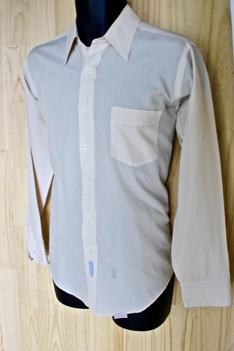 Men/'s Dress ShirtCotton Silk Nicola Mancini Roma Father/'s Day gift1970s Silfino