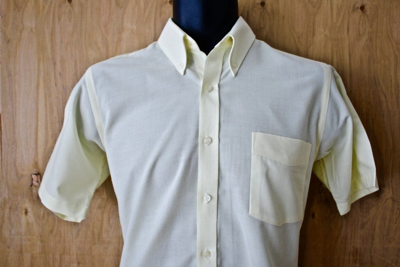 8a15af3613ee6 Men's Vintage Oxford Shirt/ Michael Page Ivy Style Half Sleeve/Button Down  Shirt/ Collegiate/ Size S