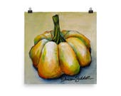 Pumpkin 2 (Series of 4), Farmhouse Fall, Print of Original - Sharon Sudduth Artist