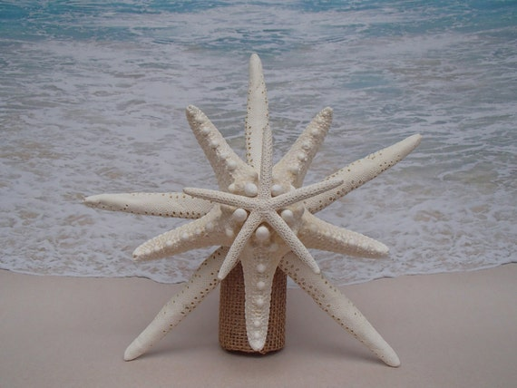 Starfish Tree Topper Choice Of Base Color & Starfish