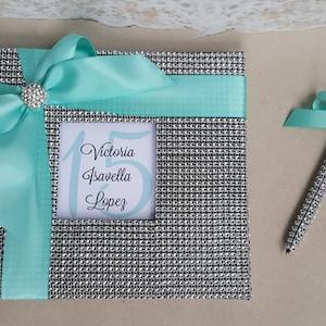 Sweet 16 Etc Birthday Party Beach Bling Guest Book Set Rhinestone Diamond Gold Starfish Sand Dollar- Guestbook 16 15 Quinceanera