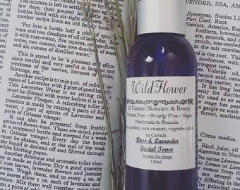 Lavender and Rose Facial Refresher Spray, Cruelty free, Paraben free, Vegan, All Natural