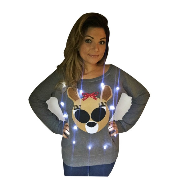 Womens Ugly Christmas Sweater Clarice Light Up Etsy