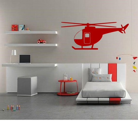 Helicopter Wall Decal Home Decor Gift Idea Kids Room | Etsy