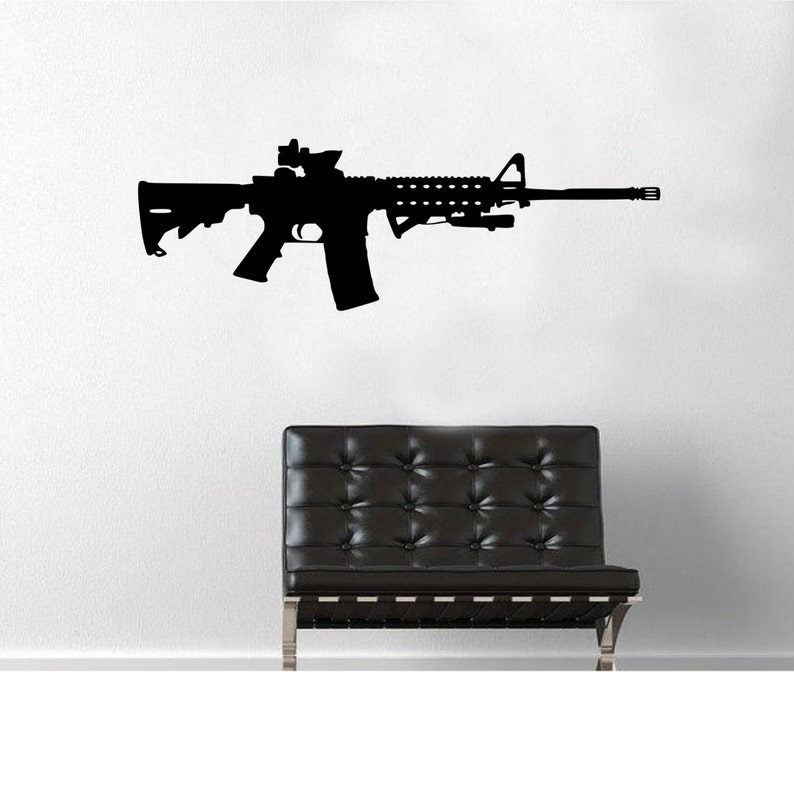 M16 Etiqueta De Pared Fusil La iOPuTXkwZ