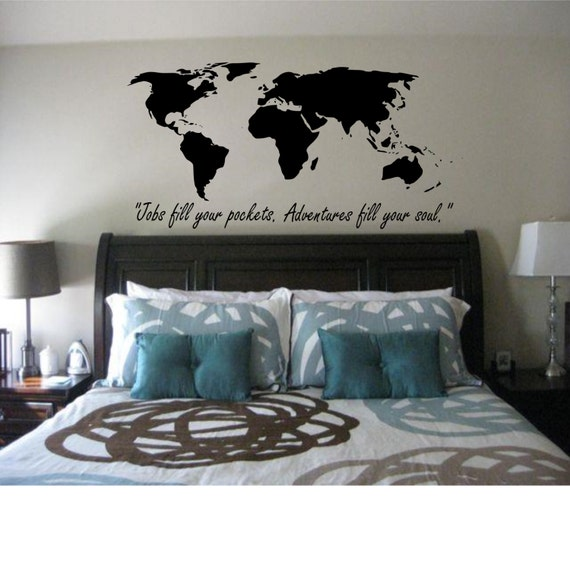 world map jobs fill your pocket adventure fills your soul etsy