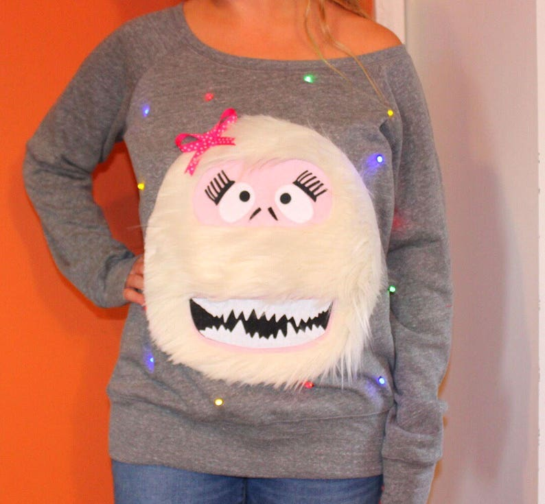 b1c4b199c7e8 Women s UGLY CHRISTMAS SWEATER Abominable Snowman