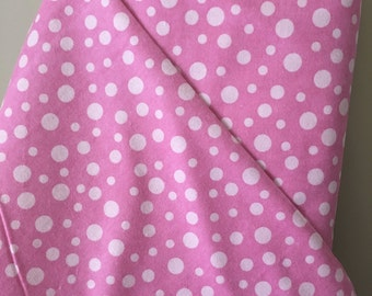 SALE! Pink Dots on Tonal Pink Background in Cozy Flannel by Alpine Fabrics in 100% Cotton Flannel Sold by the Yard