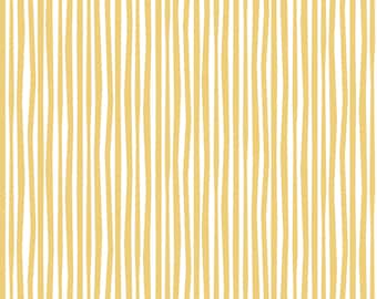 Gold and White Hand Drawn Look Stripes in Organic Cotton Flannel Fitted Crib/Toddler or Cradle Sheets Fit Standard Mattresses
